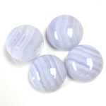 Gemstone Cabochon - Round 15MM BLUE LACE AGATE