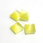 Fiber-Optic Cabochon - Pyramid Top 10x10MM CAT'S EYE YELLOW