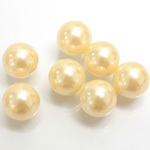 Plastic Pearl No-Hole Ball 12MM CREME