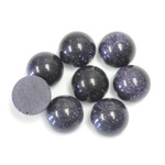 Man-made Cabochon - Round 10MM BLUE GOLDSTONE