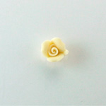 Ceramic Flat Back Flower - Rose 08MM IVORY