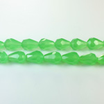 Chinese Cut Crystal Bead - Pear 09x5MM OPAL GREEN
